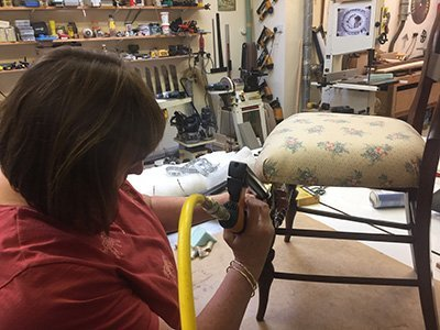 chair re upholstered 400 - The Great British Woodshop